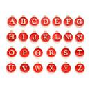 Alphabet A to Z Letter Charms 52 Pieces, Enamel Initial Letter Beads, for DIY Personalized Pendants, Necklace, Bracelet, Hat