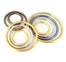 Muka Metal O Rings 50 Pieces, Seamless Welded Metal Loop, for Luggage Belt, Craft Leather Handbag