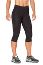 2XU WA2865-BLK Women's Mid-Rise Compression 3/4 Tight