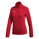 Adidas CY8265 Core Training 1/2 Zip Top (W), Power Red/White