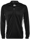 Fila TM171UW1-001 Core Half Zip Jacket, Black/White
