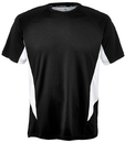 Fila TM151HN8-001 Core Color Blocked Crew Top, Black/White