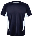 Fila TM151HN8-410/412 Core Color Blocked Crew Top, Navy/White