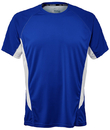 Fila TM151HN8-482 Core Color Blocked Crew Top, Team Royal/White