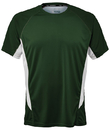 Fila TM151HN8-302 Core Color Blocked Crew Top, Team Forest Green/White