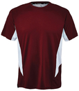 Fila TM151HN8-201 Core Color Blocked Crew Top, Team Maroon/White