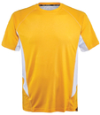 Fila TM151HN8-739 Core Color Blocked Crew Top, Team Gold/White