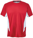 Fila TM151HN8-640 Core Color Blocked Crew Top, Crimson/White