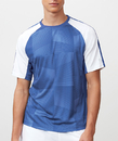 Fila TM181P23-470 Core Printed Crew Top, Sky Blue/White