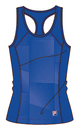 Fila TW181R49-482 Core Racerback Printed Team Tank, Team Royal