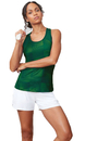 Fila TW181R49-302 Core Racerback Printed Team Tank, Team Forest Green