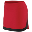 Augusta 2410-407 AUG-COLOR BLOCK SKIRT(W) RED/BLK