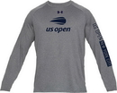 Us Open Um0639-949H Under Armour Tech Logo L/S (M) Grey