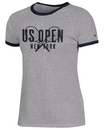 Us Open C9843-9511 Champion Slub Ringer Tee (W) Grey