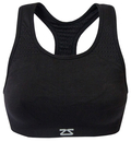 Zensah 100-BLK Seamless Sports Bra, Black