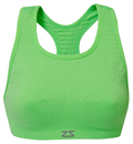 Zensah 112-NEON GREEN Seamless Sports Bra, Neon Green