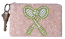 Moyna MCX3871 Beaded Coin Purse-Crossed Racquets