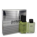 Puig Quorum Silver Gift Set -- 3.4 oz Eau De Toilette Spray + 3.4 oz After Shave For Men