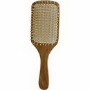 Spa Accessories By Spa Accessories - Wood Bristel Hair Brush - Bamboo Paddle For Women