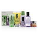 Clinique By Clinique Daily Essentials Set (Dry Combination): All About Eyes 15Ml + Liquid Soap 30Ml + Makeup Remover 50Ml + Clarifying Lotion 2 60Ml + Ddml+ 50Ml --5Pcs For Women