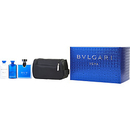 Bvlgari Blv By Bvlgari Edt Spray 3.4 Oz & Aftershave Balm 2.5 Oz & Shampoo And Shower Gel 2.5 Oz & Pouch For Men