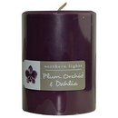 Plum Orchid & Dahlia By  One 3X4 Inch Pillar Candle.  Burns Approx. 80 Hrs. For Unisex
