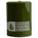 Anjou Pear & Lemongrass By  One 3X4 Inch Pillar Candle.  Burns Approx. 80 Hrs. For Unisex