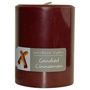 Candied Cinnamon By  One 3X4 Inch Pillar Candle.  Burns Approx. 80 Hrs. For Unisex