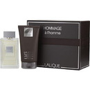 Lalique Hommage A L'Homme By Lalique - Edt Spray 3.4 Oz & Hair And Shower Gel 5 Oz, For Men