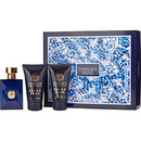 Versace Dylan Blue By Gianni Versace - Edt Spray 1.7 Oz & After Shave Balm 1.7 Oz & Shower Gel 1.7 Oz, For Men