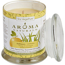 Ambiance Aromatherapy By Ambiance Aromatherapy - One 3.7X4.5 Inch Medium Glass Pillar Soy Aromatherapy Candle. Combines The Essential Oils Of Orange & Lemongrass. Burns Approx. 45 Hrs., For Unisex