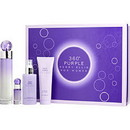 PERRY ELLIS 360 PURPLE by Perry Ellis Eau De Parfum Spray 3.4 Oz & Body Mist 4 Oz & Shower Gel 3 Oz & Eau De Parfum .25 Oz Mini Women