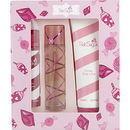 Pink Sugar By Aquolina - Edt Spray 3.4 Oz & Hair Perfume Spray 3.3 Oz & Body Lotion 8.4 Oz , For Women