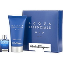 ACQUA ESSENZIALE BLU by Salvatore Ferragamo Set -Edt .17 Oz Mini & Shower Gel 1.7 Oz Men