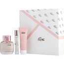 LACOSTE EAU DE LACOSTE L.12.12 POUR ELLE SPARKLING by Lacoste Edt Spray 1.7 Oz & Shower Gel 1.7 Oz & Edt Spray .25 Oz Women