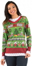 Faux Real F113254 Ladies Ugly Christmas Sweater T-Shirt Costume