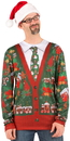 Faux Real F115779 Ugly Christmas Cardigan T-Shirt