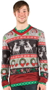 Faux Real F115908 Christmas Frisky Deer Faux Sweater T-Shirt Costume