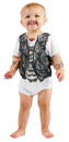 Faux Real F119411 Infant Biker Romper