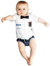 Faux Real F120575 Infant Nerd Romper Costume