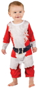 Faux Real F122166 Infant Santa Suit Romper Costume