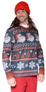 Faux Real F126708 Santa Stripe Sweater T-Shirt