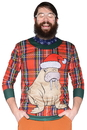 Faux Real F126710 Plaid Walrus Sweater T-Shirt Costume