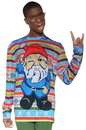 Faux Real F126716 Men's Christmas Gnome Sweater T-Shirt Costume