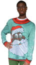 Faux Real F127464 Black Santa Sweater T-Shirt Costume