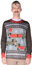 Faux Real F127465 Men's Wiener Wonderland Sweater T-Shirt Costume