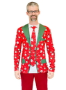 Faux Real F130557 Red Xmas Matching Suit & Tie Costume