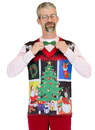 Faux Real F130559 Ugly Noel Xmas Vest Costume