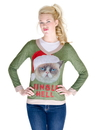 Faux Real F130562 Jingle Hell Cat Ugly Xmas Sweater