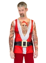 Faux Real F130743 Santa Suit Tank with Tattoos Costume